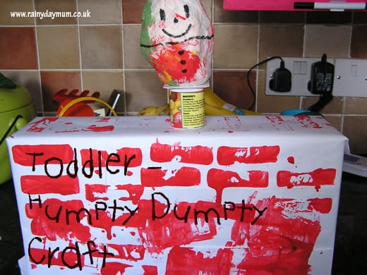Toddler Humpty Dumpty Craft