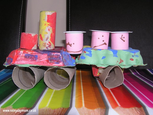 toddler craft train and passengers