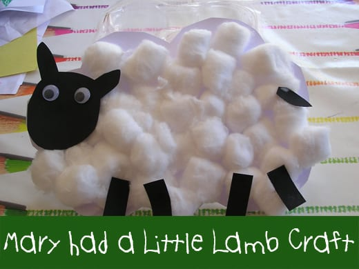 Mary had a little lamb craft