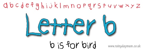 letter recognition b is for bird