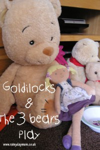 Goldilocks and the three bears play