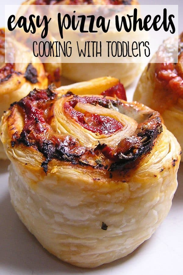 Easy Pastry Wheels to Cook with Toddlers and Preschoolers