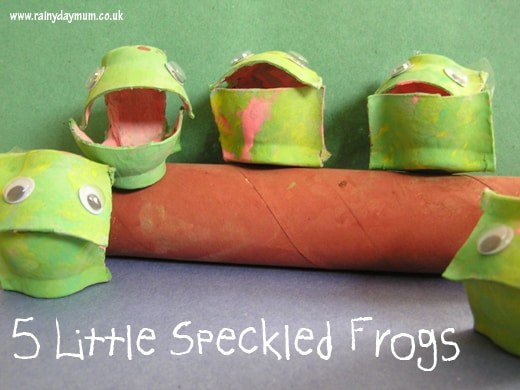 Five little speckled frog Craft for toddlers and preschoolers