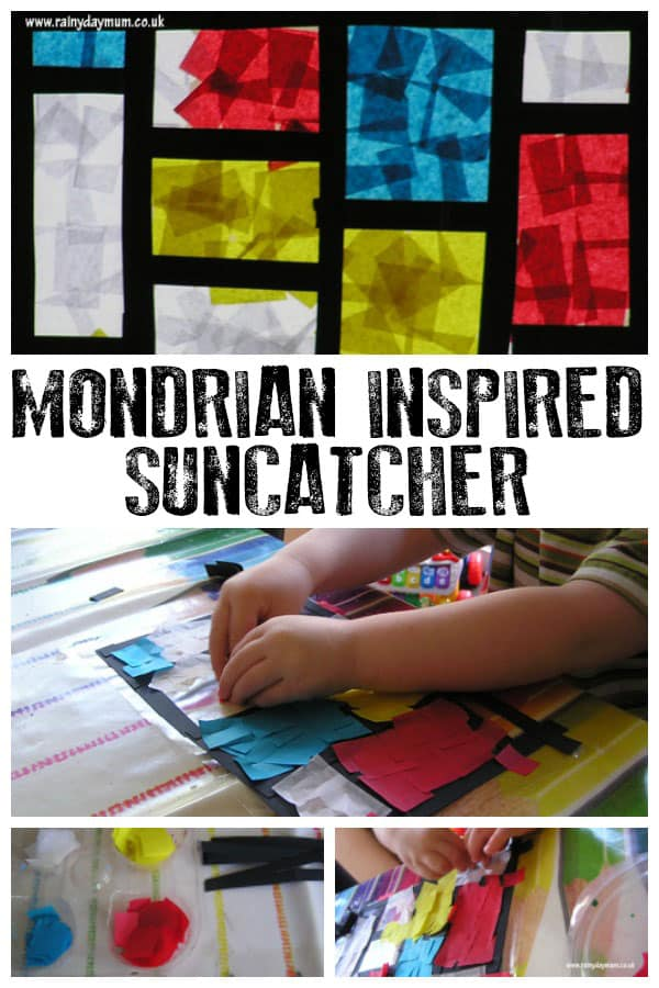Mondrian Inspired Sun-Catcher – Exploring Famous Artists with Toddlers and Preschoolers