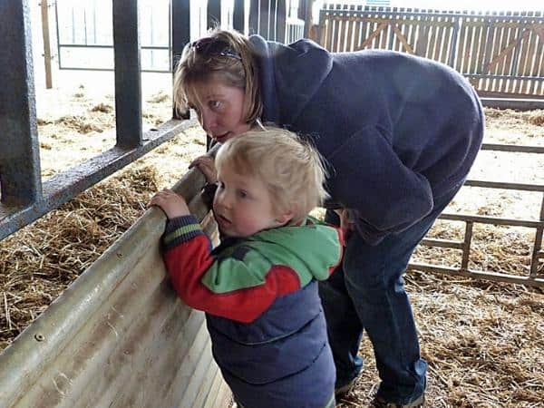 mum and toddler at the farm