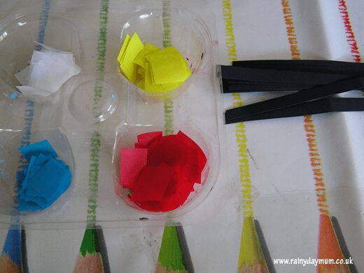 stained glass window project for Toddlers