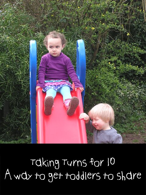 An idea to help toddlers to share