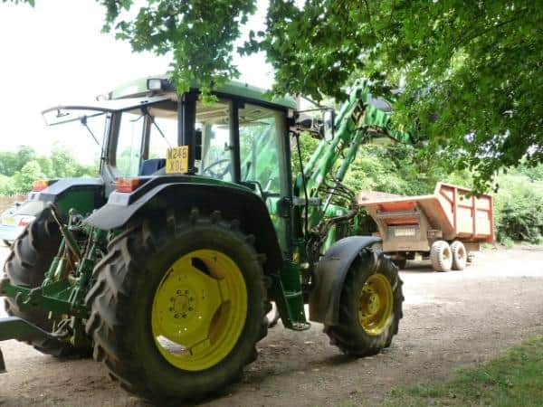 tractor rides at the farm