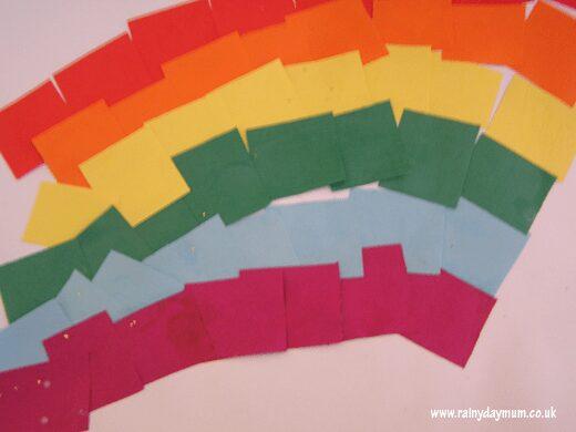 Sticky Rainbow Art