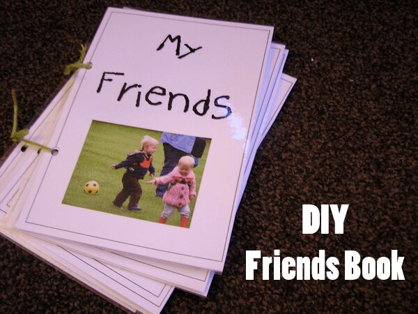 A DIY Friends Book for young children