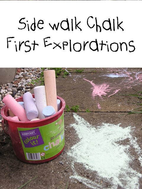 using sidewalk chalk with toddlers