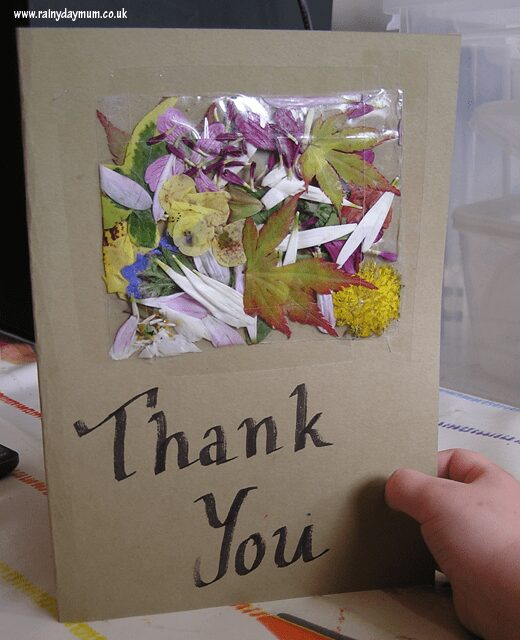 flowe rthank you card