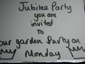 Jubilee garden party craft for toddler and preschool children