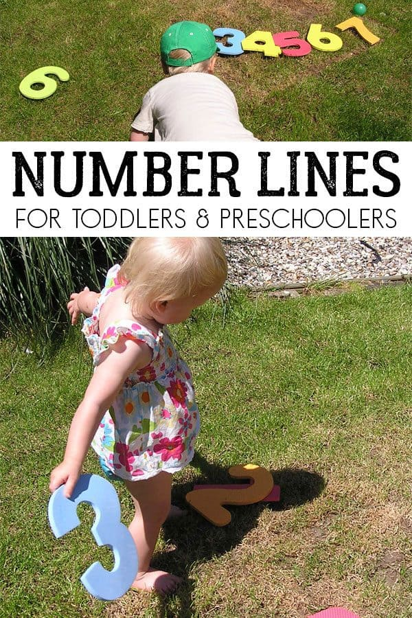 Make your own Giant Number Line with Toddlers and Preschoolers