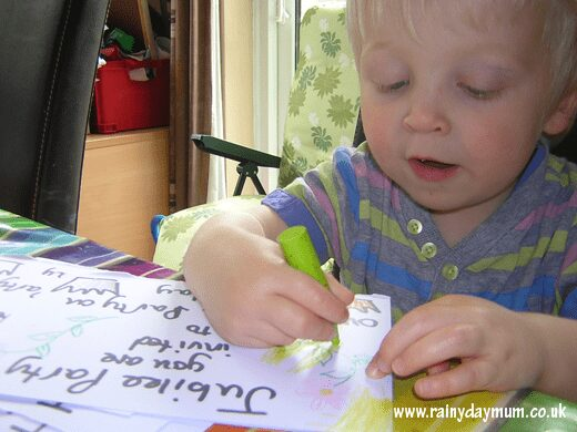 mark making and letter recognition