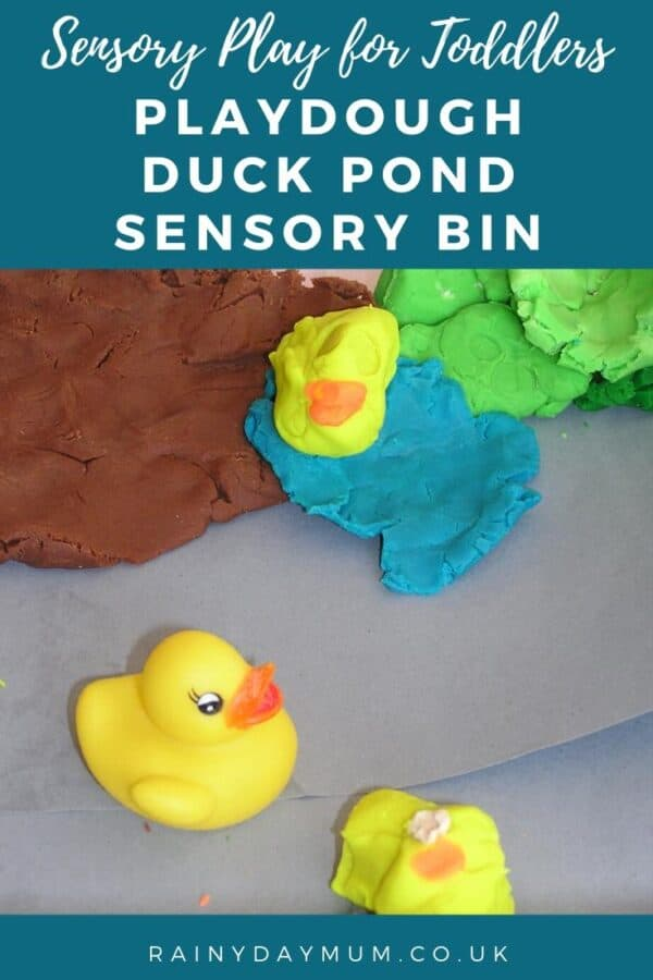 Sensory play for toddlers a playdough duck pond sensory bin