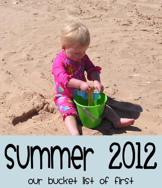 Summer 2012 Toddler Bucket List