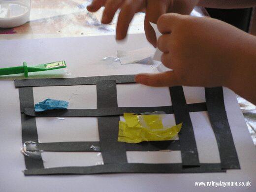 Tissue paper Mondrian