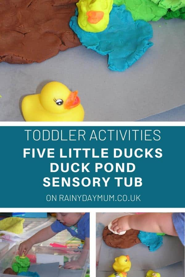toddler activities five little ducks duck pond sensory tub