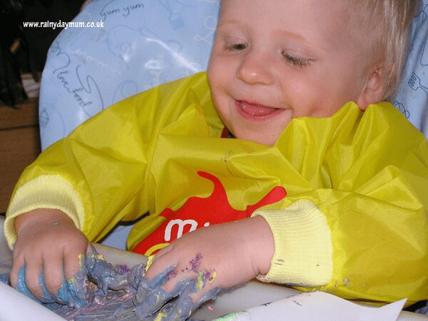 Finger Painting for babies