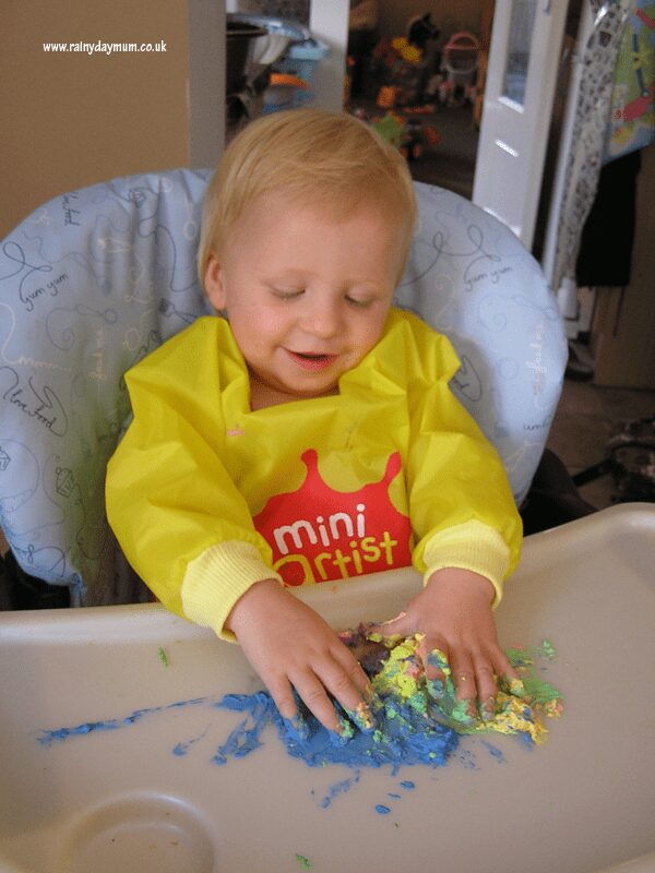 Finger Paint sensory play for older babies