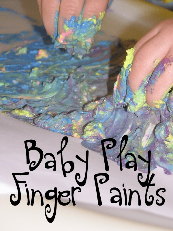 Sensory Play for older Babies using Finger Paints