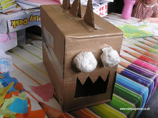 cardboard box dinosaurs