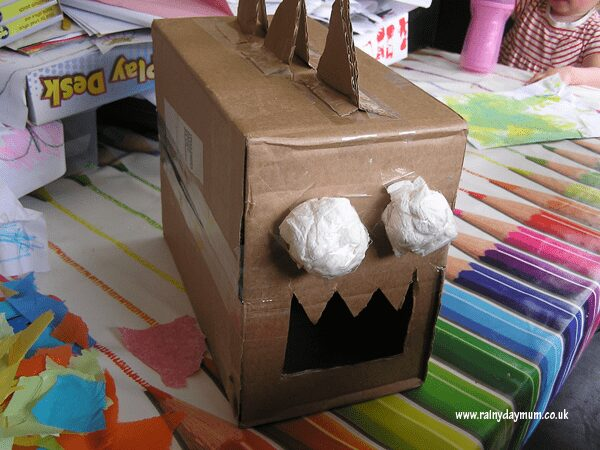 cardboard box model dinosaur