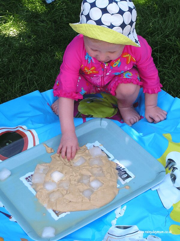 Edible sensory play for toddlers