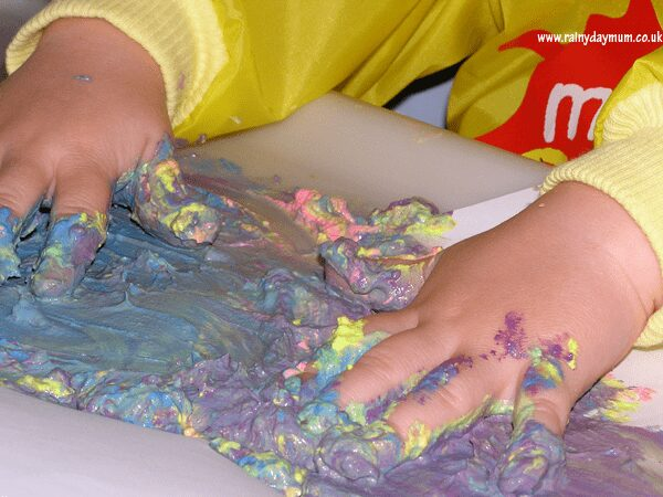 Finger painting with babies
