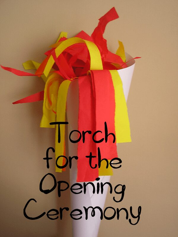 Olympic Relay Torch for Toddlers to Make