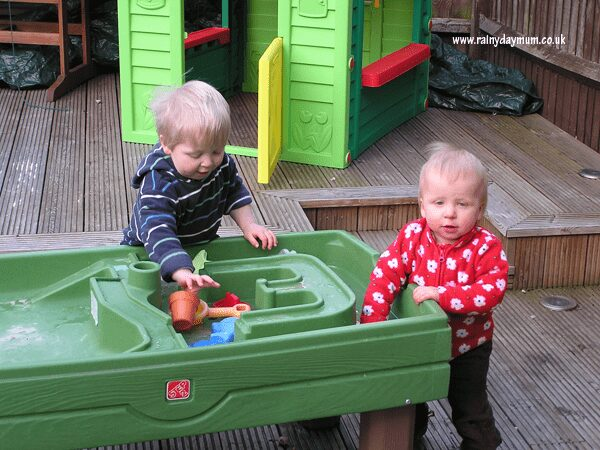 Water table play in the winter