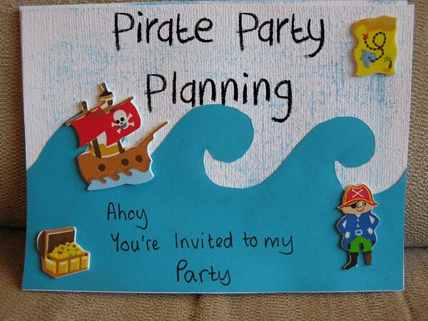 DIY Party Invites for Pirate Party