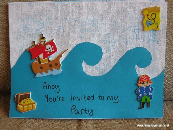 Preschool pirate party invites