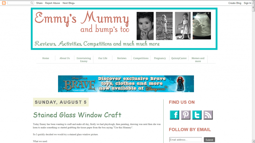 Emmys Mummy blog design