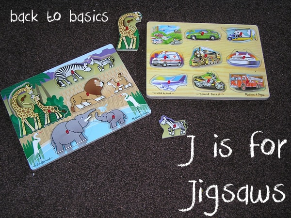 Back to Basics – J is for Jigsaws