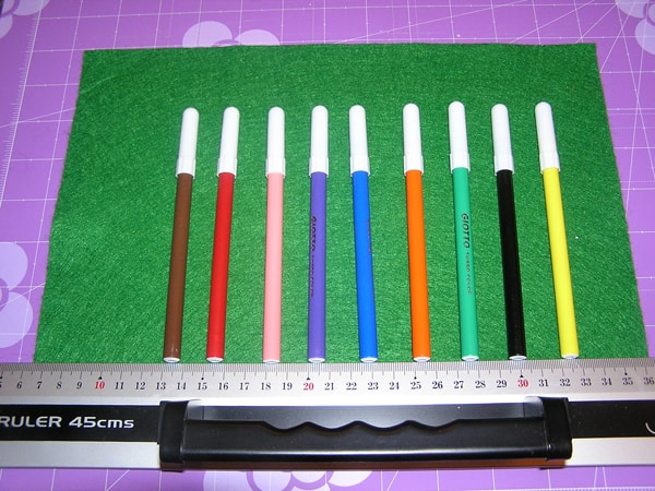 measurements for a no sew pen roll