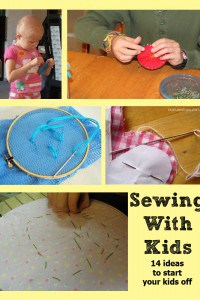 Tuesday Tots – sewing fun