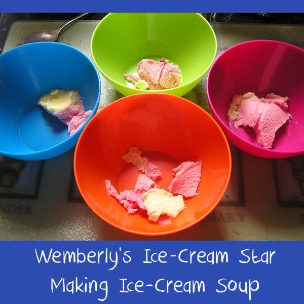 making ice cream soup
