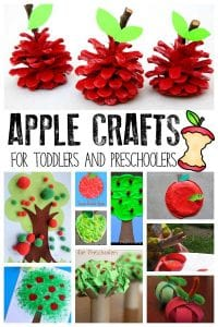 Celebrate early autumn with your toddlers and preschoolers by trying some of this apple crafts ideal for little hands to have a go at making.
