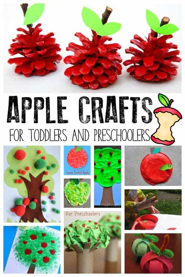 Apple Crafts for Toddlers and Preschoolers
