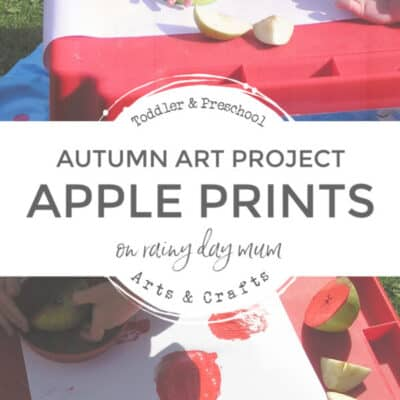 Apple Printing – Autumn Art for Toddlers & Preschoolers