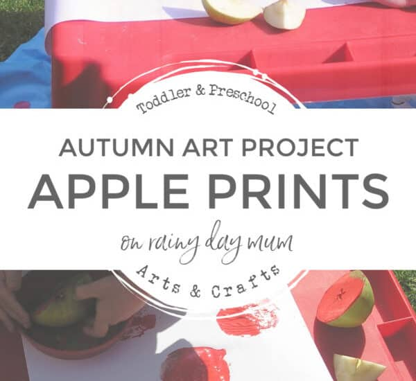 apple printing a fun autumn art project for toddlers and preschoolers