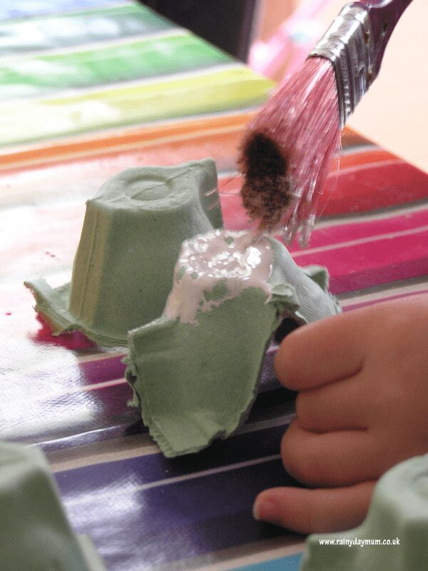 painting egg cartons