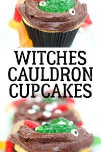 An easy to do Halloween recipe for a perfect Halloween Party, Witches Cauldron cupcakes. Toddler friendly halloween recipe to follow and lots of fun to make