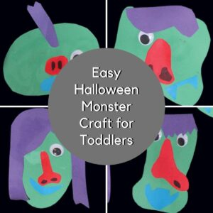 Easy Halloween Monster Craft for Toddlers