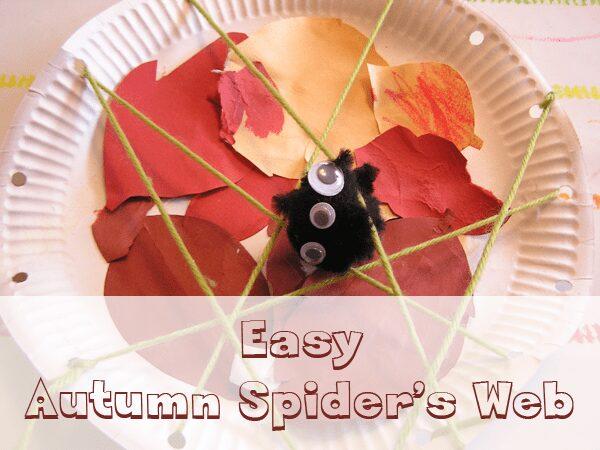 preschool spider web craft