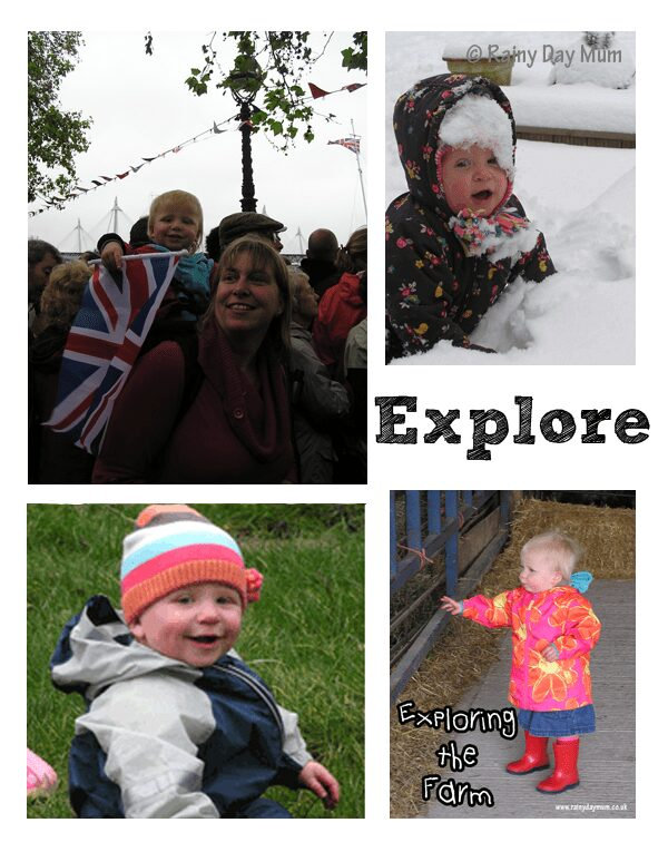 Exploring and new experiences for under 18 months