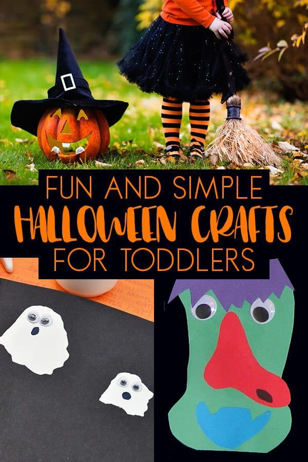 Fun Halloween Crafts that you and your toddler can really do together.
