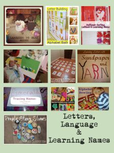 Early years literacy activities